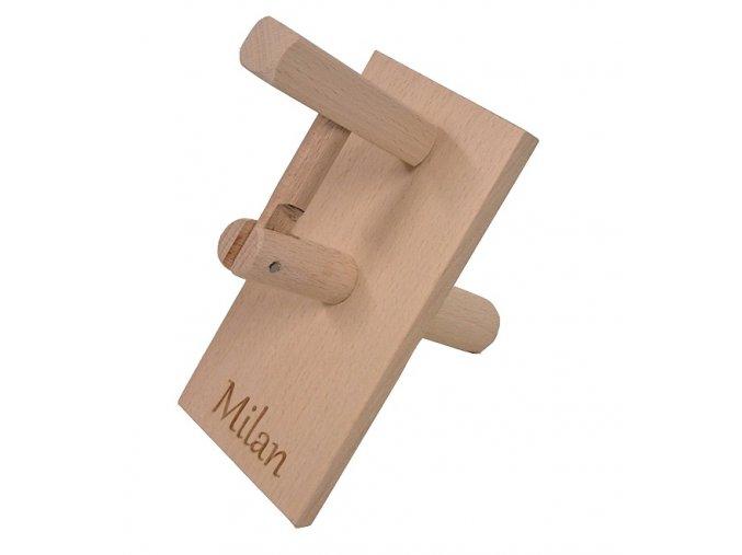 Dřevěná klapačka s vlastním nápisem Kučerňák