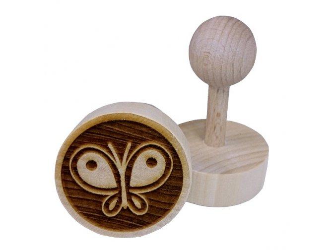 Dřevěné razítko na sušenky - motýl