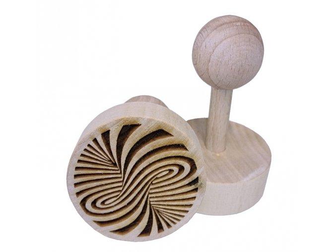 Dřevěné razítko na sušenky - hurikán