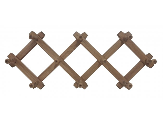 Rozkládací dřevěný věšák 82 x 31 cm, tmavý