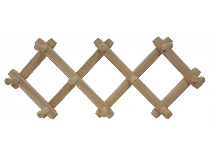 Rozkládací dřevěný věšák 82 x 31 cm, světlý