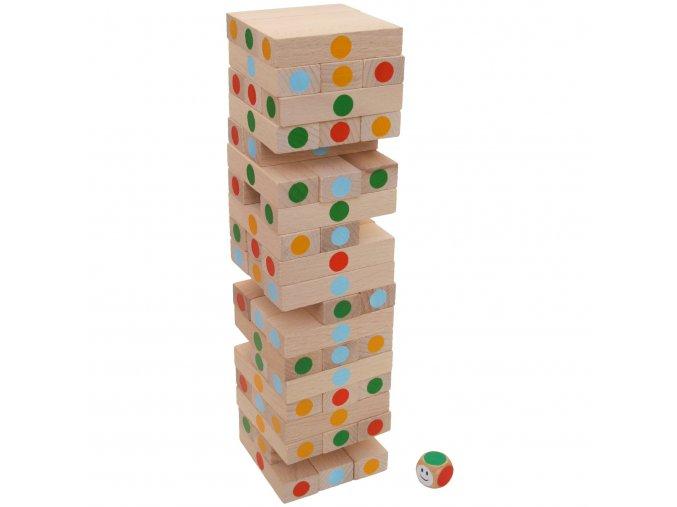 Věž jenga color