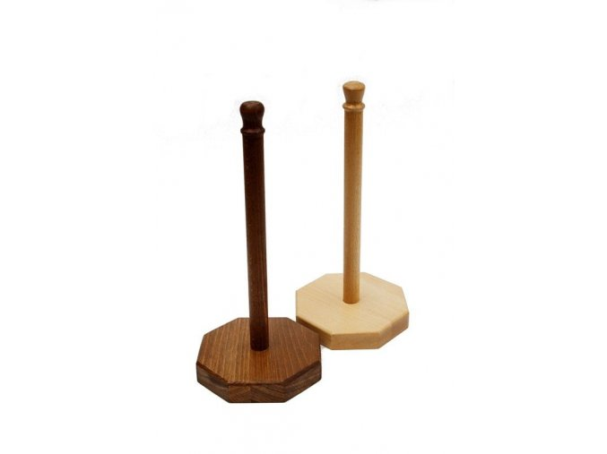 Stojan na papírové utěrky dřevěný 33 cm