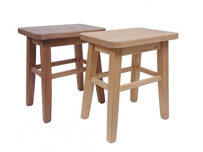 Stolička s obdélníkovým sedákem
