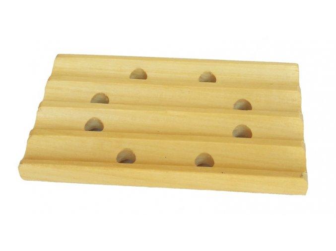 Dřevěná podložka pod mýdlo