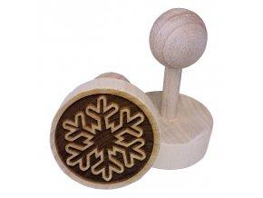 Dřevěné razítko na sušenky Vločka