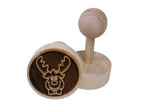 Dřevěné razítko na sušenky - sob