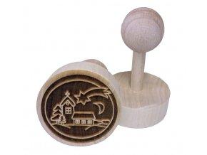 Dřevěné razítko na sušenky Kostelík