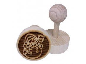 Dřevěné razítko na sušenky - sněhulák