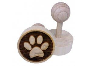 Dřevěné razítko na sušenky - tlapka