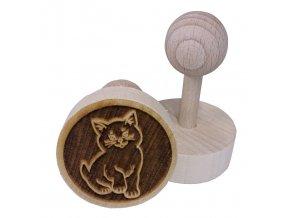 Dřevěné razítko na sušenky - kočka