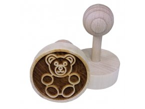 Dřevěné razítko na sušenky - medvídek