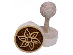 Dřevěné razítko na sušenky - kvítek