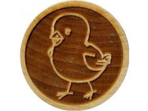 Dřevěné razítko na sušenky - kuře