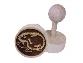 Dřevěné razítko na sušenky Ježek