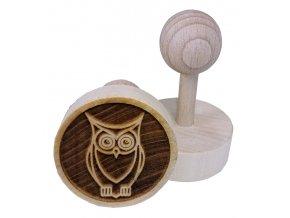 Dřevěné razítko na sušenky - sova