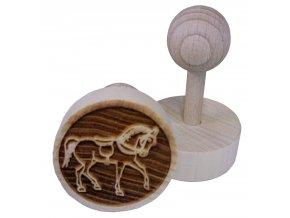 Dřevěné razítko na sušenky Koník