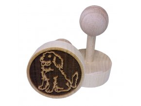 Dřevěné razítko na sušenky - pejsek