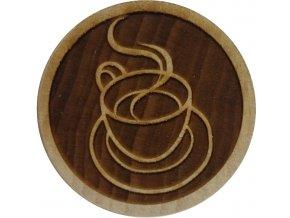 Dřevěné razítko na sušenky Káva