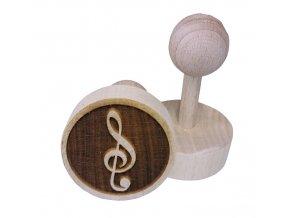 Dřevěné razítko na sušenky - houslový klíč