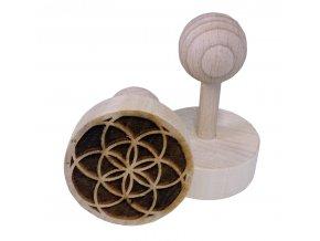 Dřevěné razítko na sušenky Mandala II