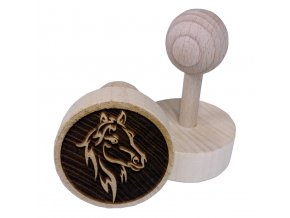 Dřevěné razítko na sušenky Koňská hlava