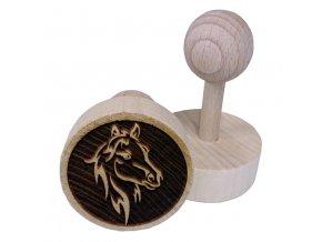 Dřevěné razítko na sušenky - koňská hlava
