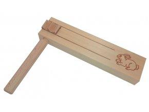 Řehtačka dřevěná malá se zajíčkem