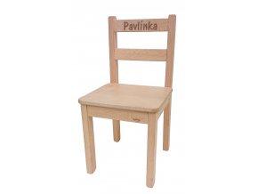 Dětská židlička s vlastním nápisem