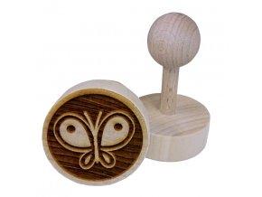 Dřevěné razítko na sušenky motýl
