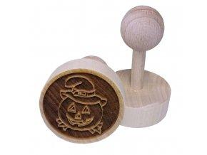 Dřevěné razítko na sušenky - dýně