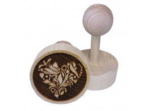 Dřevěné razítko na sušenky Srdce II