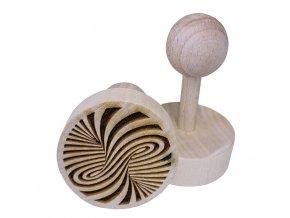 Dřevěné razítko na sušenky Hurikán
