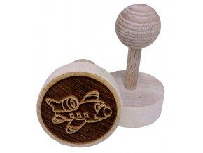 Dřevěné razítko na sušenky - letadlo