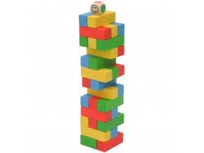 Věž jenga mini barevná