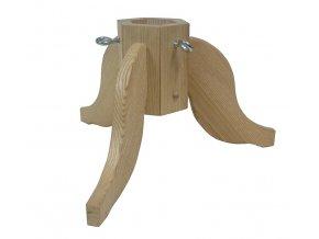 Dřevěný stojan na stromek 40x40x23 cm