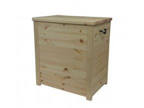 Dřevěná truhla 60 x 40 x 65 cm