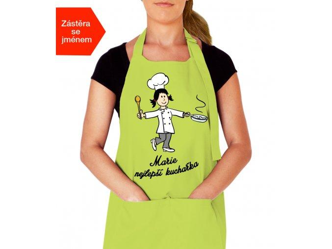 Kuchařská zástěra se jménem