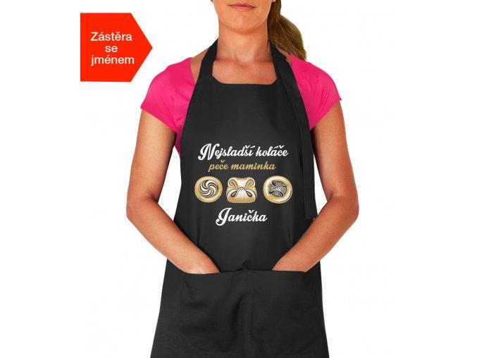 Zástěra na vaření pro maminku - Nejsladší koláče peče maminka
