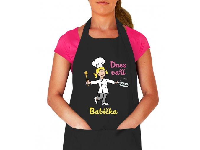 Zástěra na vaření pro ženu