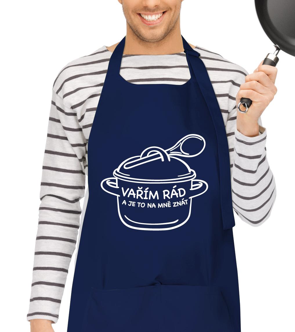 Kuchyňská zástěra pro muže - Rendlík Barva: Tmavě modrá (Navy)