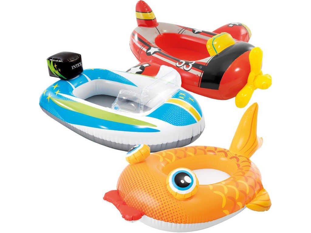 INTEX Člun dětský nafukovací auto / letadlo / ryba plavidlo do vody 3 druhy 59380