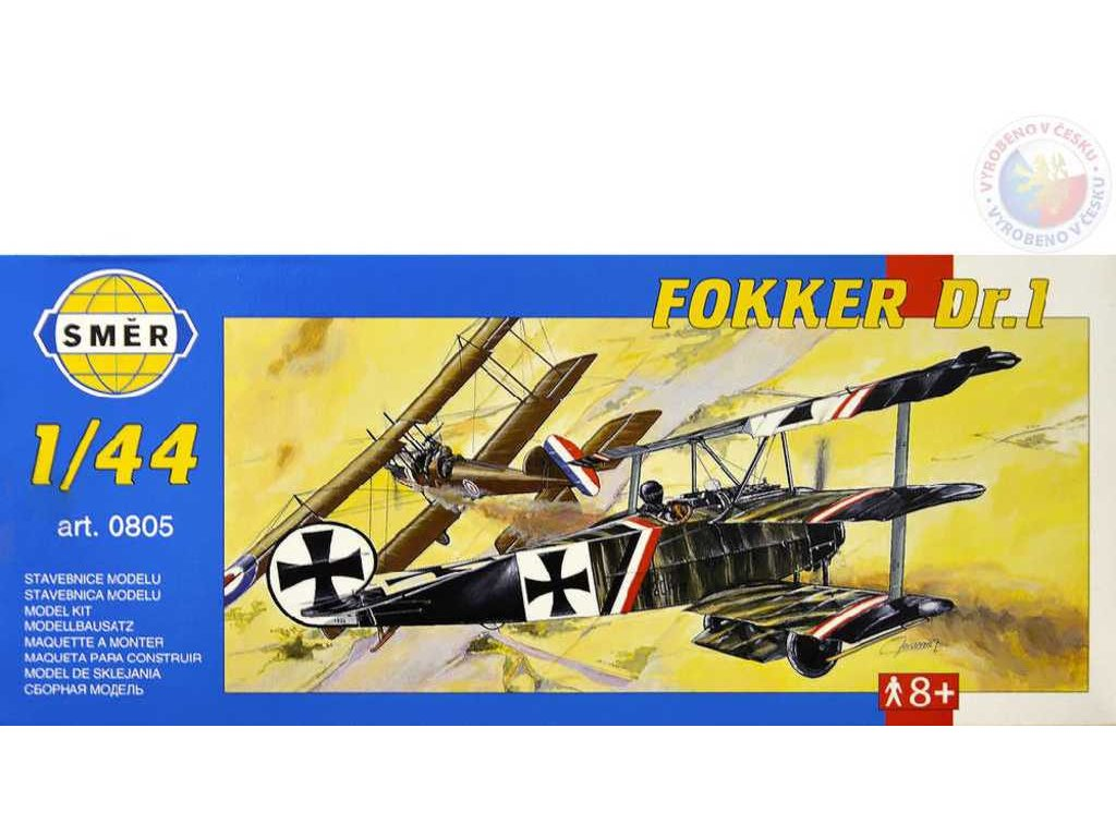 SMĚR Model letadlo Fokker Dr.1 1:44 (stavebnice letadla)