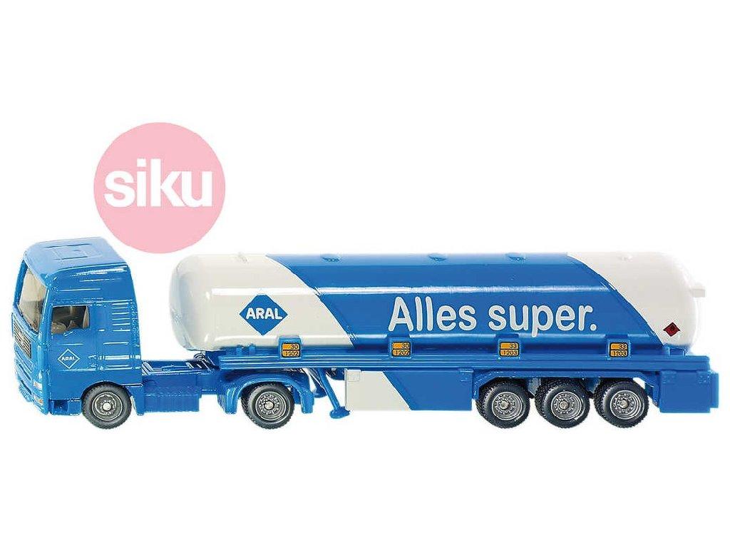 SIKU Model tahač s cisternovým návěsem 1:87 kov