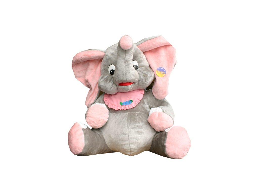 PLYŠ Slon Miro 100 cm šedo-růžový * PLYŠOVÉ HRAČKY *