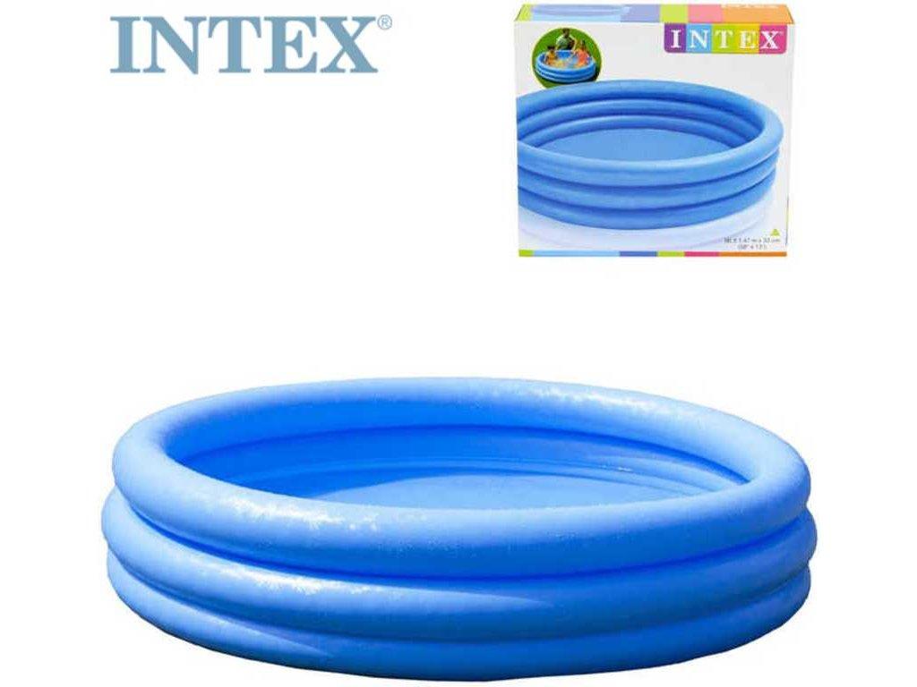 INTEX Bazén kruhový nafukovací Crystal 114x25cm 3 komory modrý 59419