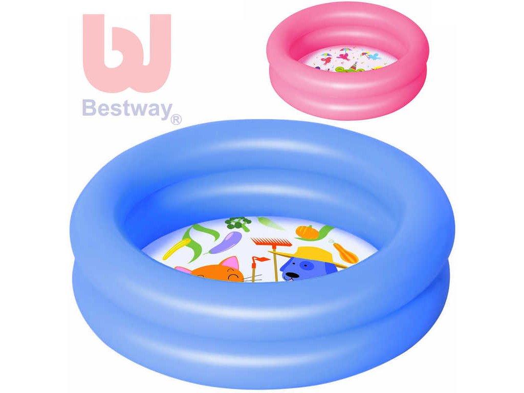 BESTWAY Baby bazének nafukovací 2 komory 61x15cm brouzdaliště pro miminko