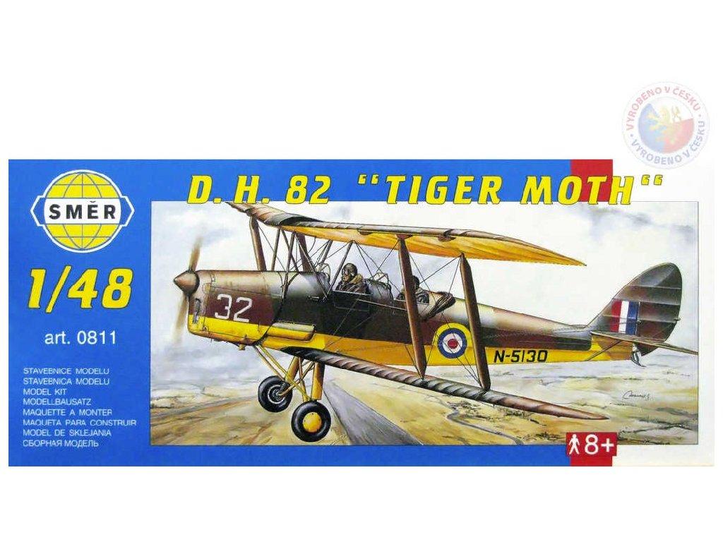 SMĚR Model letadlo D.H.82 Tiger Moth 1:48 (stavebnice letadla)