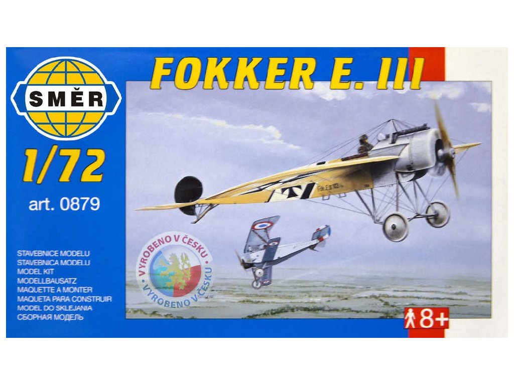 SMĚR Model letadlo Fokker E.III 1:72 (stavebnice letadla)