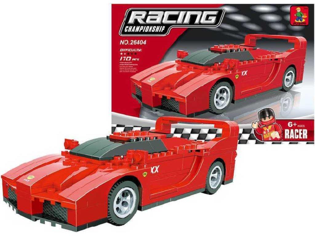 AUSINI Stavebnice ZÁVODNÍ auto Ferrari FXX sada 170 dílků plast